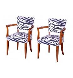 Mid-Century Zebra Chairs