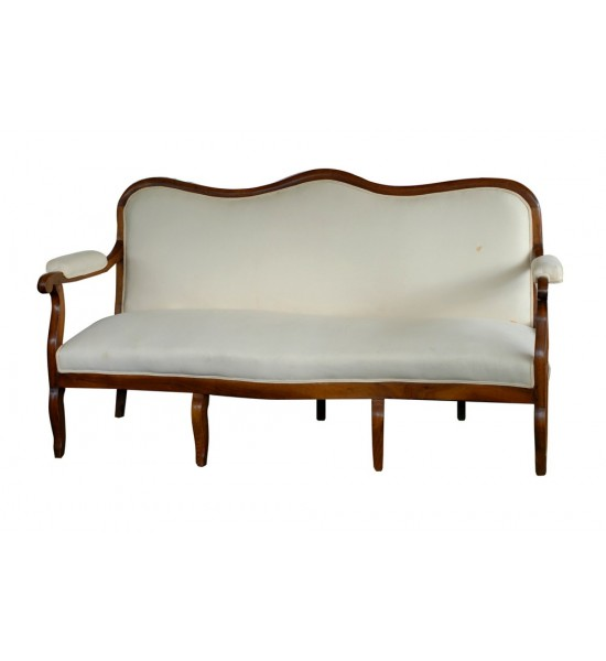 Beau French Wooden Framed Sofa