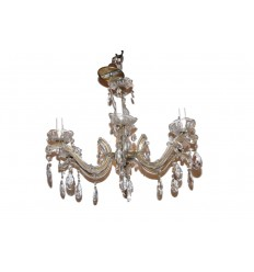 A 6-arm Crystal Chandelier
