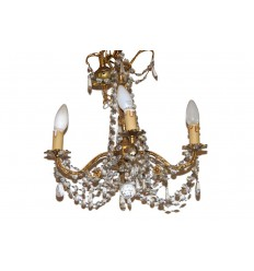 4 Arm Crystal Chandelier