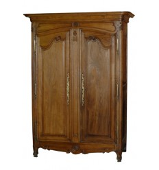 Chestnut Carved Armoire