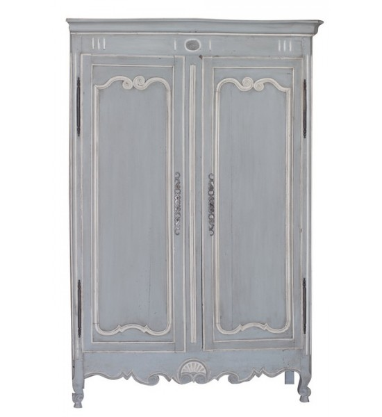 Blue U0026 White Painted Armoire