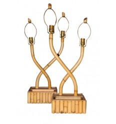 Bamboo Lamps with Planter