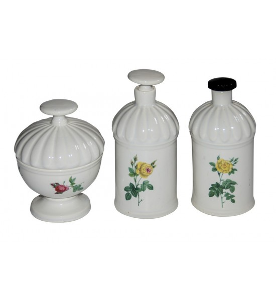 3-pc Porcelain Bathroom Set