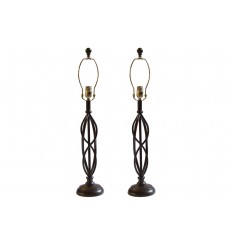 Pair of Modern Faux Lamps
