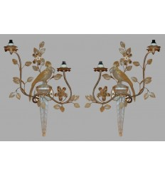 Pair Art Deco Sconces