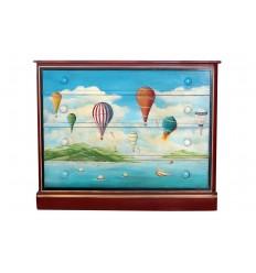 Hand Painted Hot Air Balloon Bureau