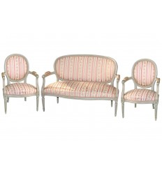 4 Chairs & French Settee/Sofa