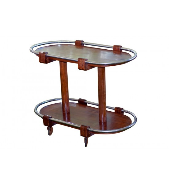 2-Tiered Mid-Century Serving Cart