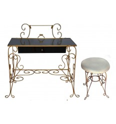 Art Nouveau Vanity with Stool