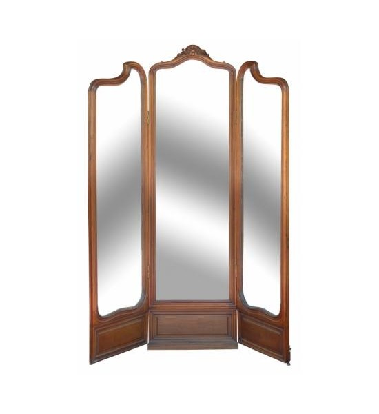 Three Panel Mirrored Screen