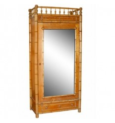 Bamboo Mirrored Armoire