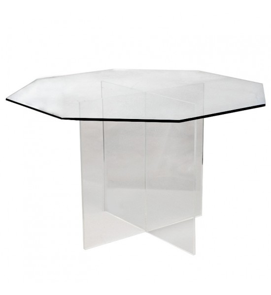 Mid-Century Glass Dining Table