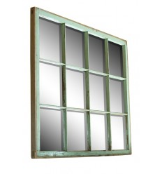 Green 12-Panel Mirror