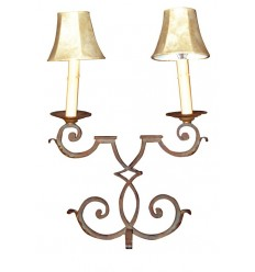 A Single Cast Iron 2-Arm Lamp